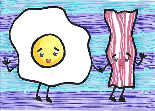 Kawaii Bacon and Eggs