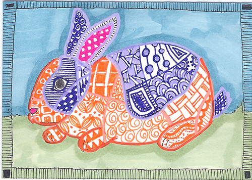 zentangle bunny