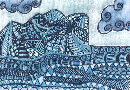 Zentangle Iceberg